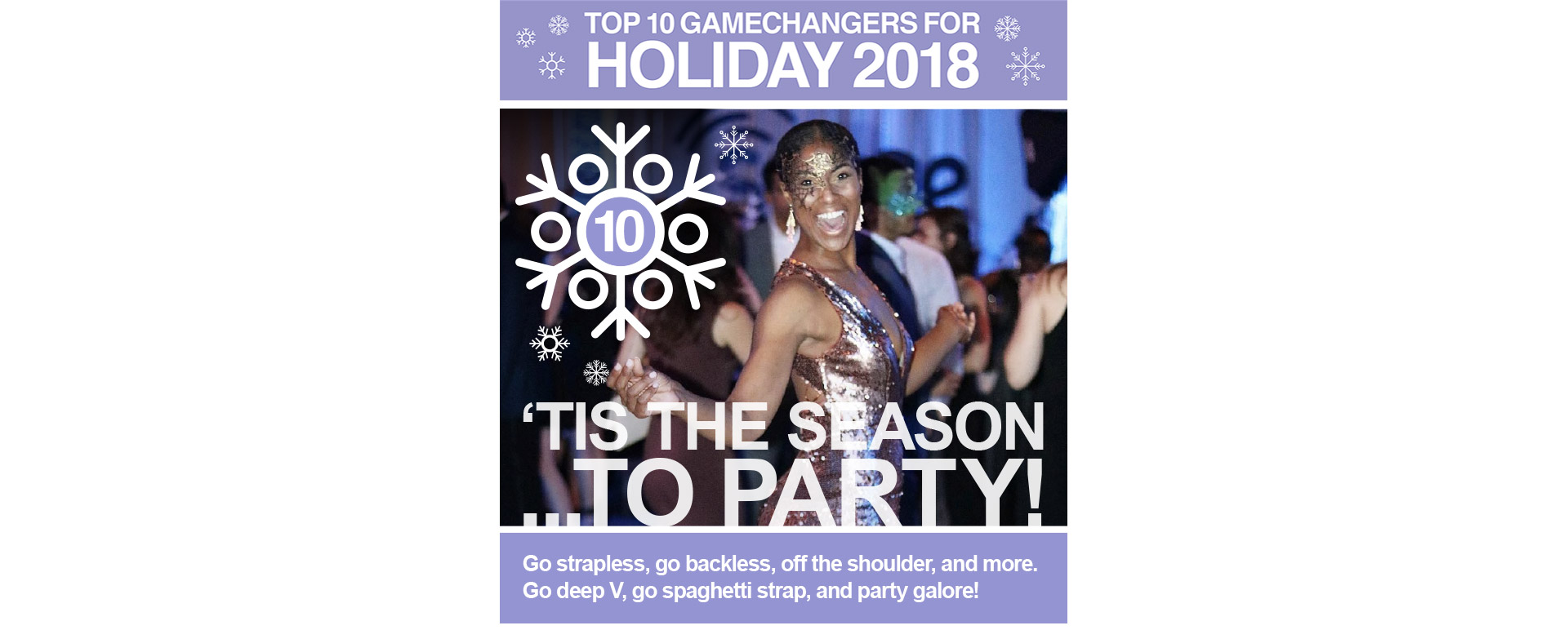 "TOP 10GAMECHANGERS HOLIDAY 2018. ""Tis the Season to Party"""